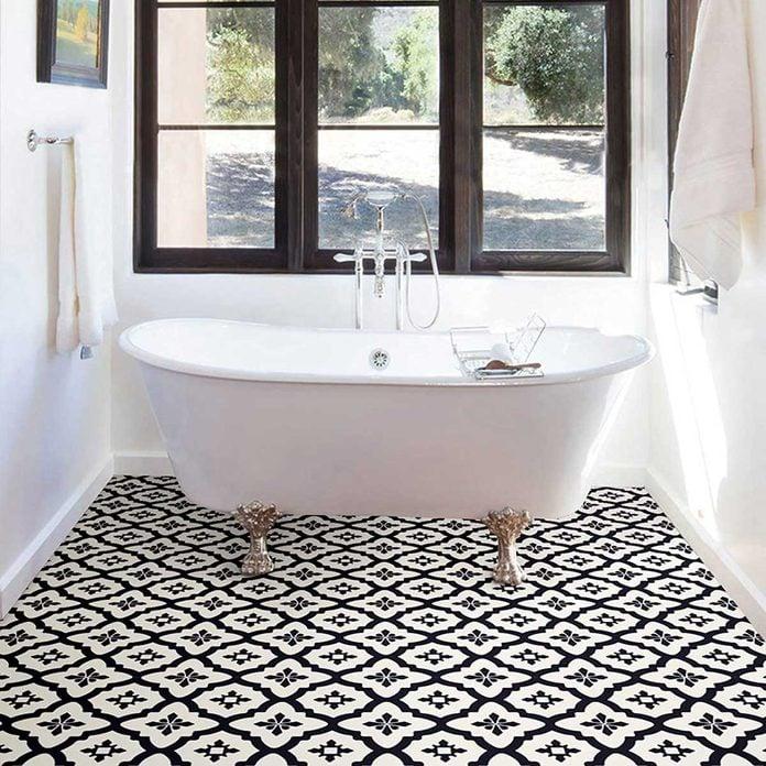Peel and stick floor tiles
