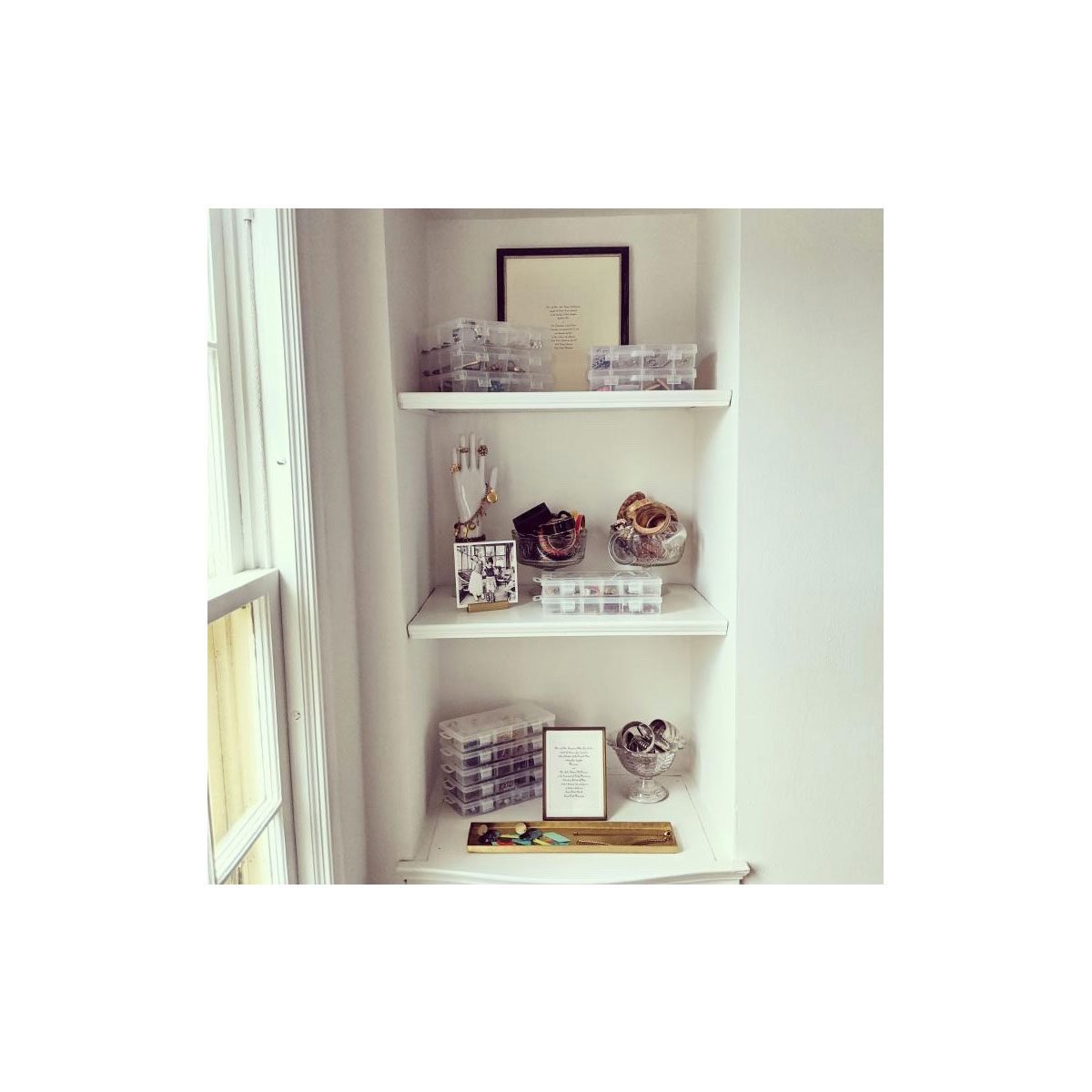 Shelves in a small space