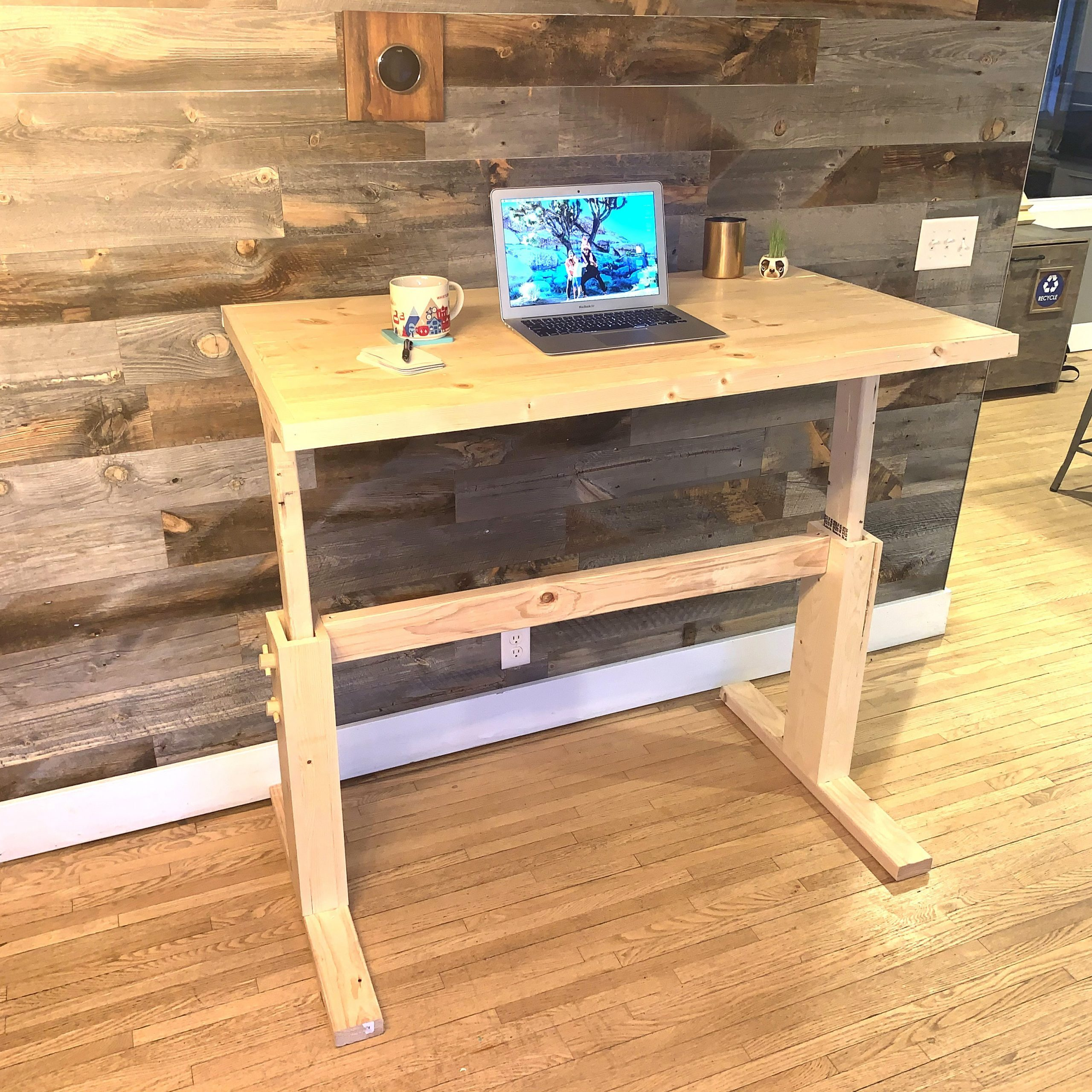 Sit Or Stand How To Make Your Own Adjustable Diy Desk Family Handyman
