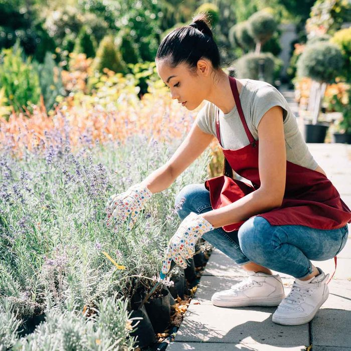 Woman Landscaping