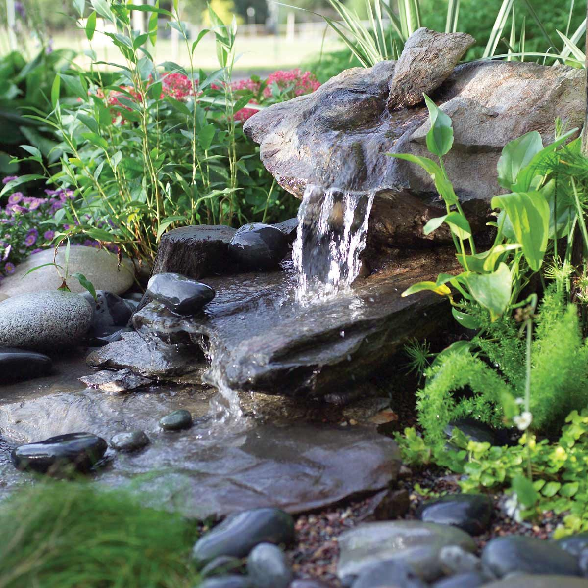 DIY low mainenace water feature