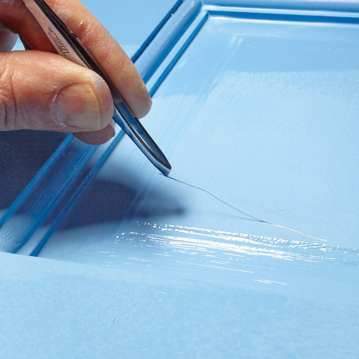 tweezer door painting tip