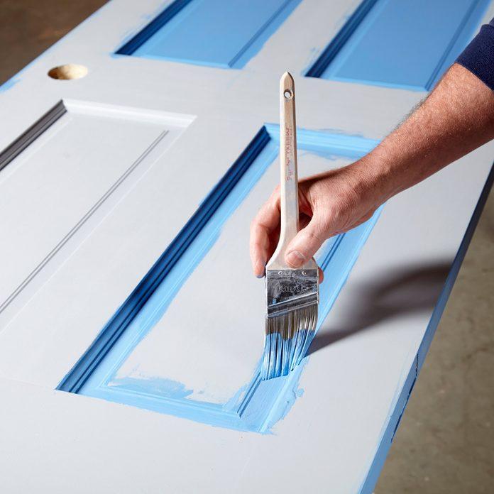 Brush around the door panels