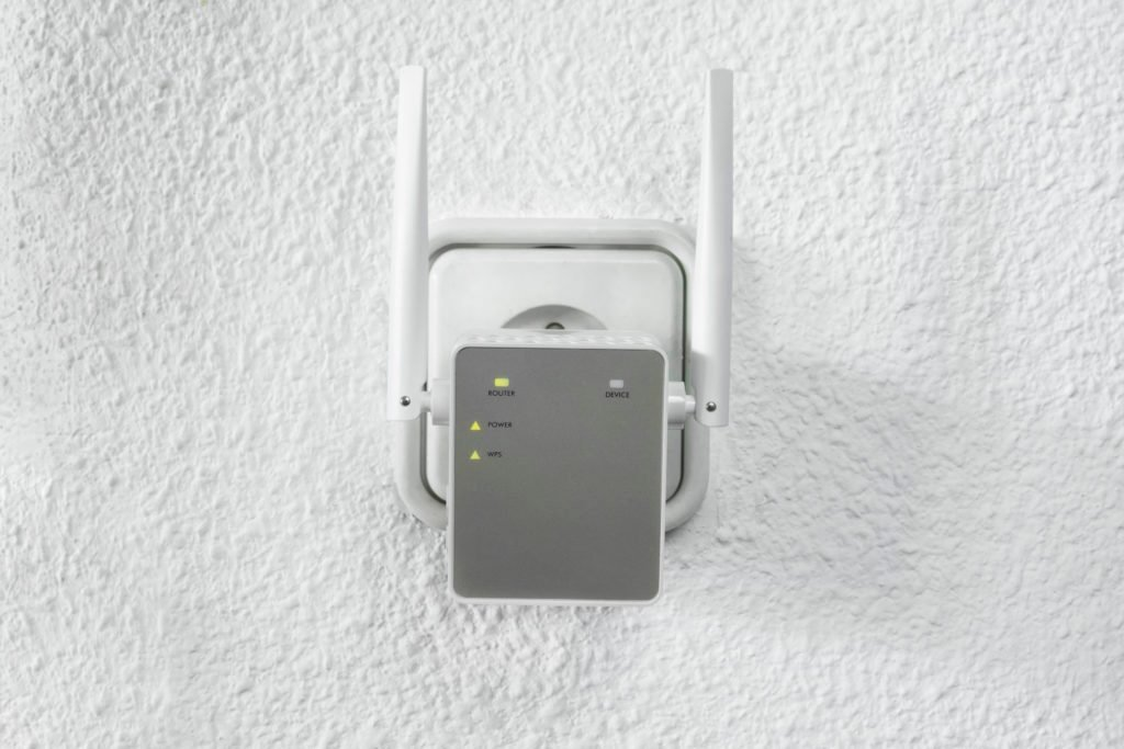 Detail of Wifi range extender