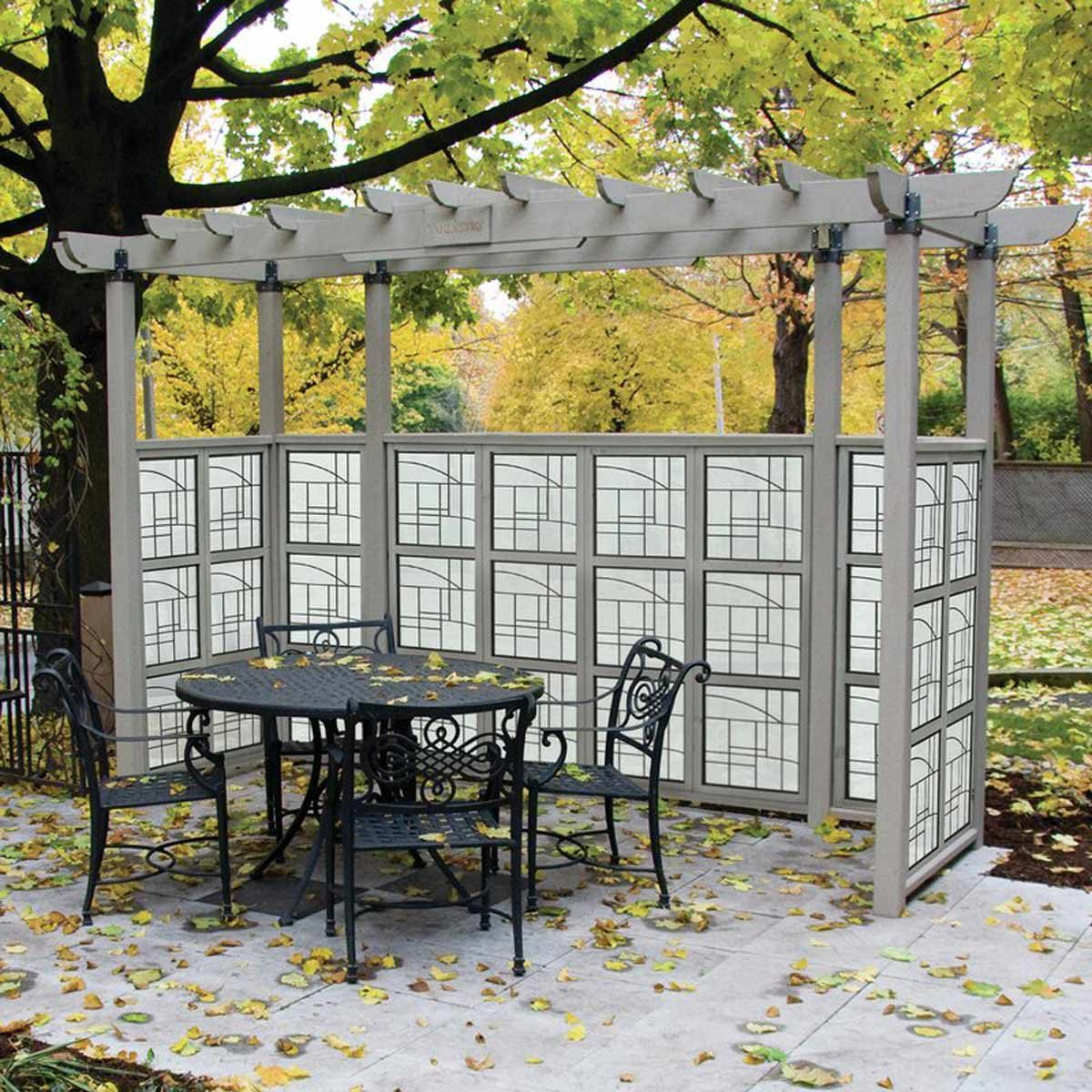 Seneca Privacy Arbor 6 Ft. W x 4 Ft. D Solid Wood Pergola