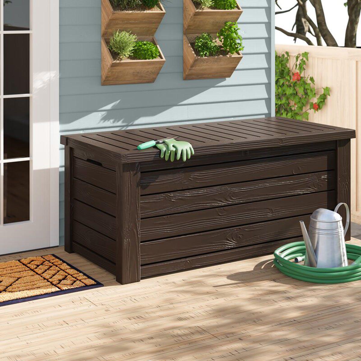 150 Gallon Resin Deck Box