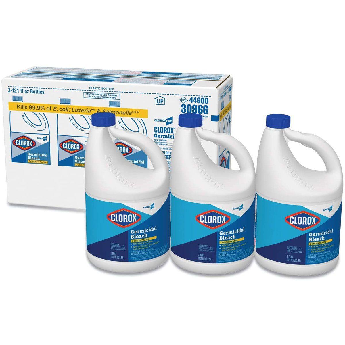 Liquid chlorine bleach