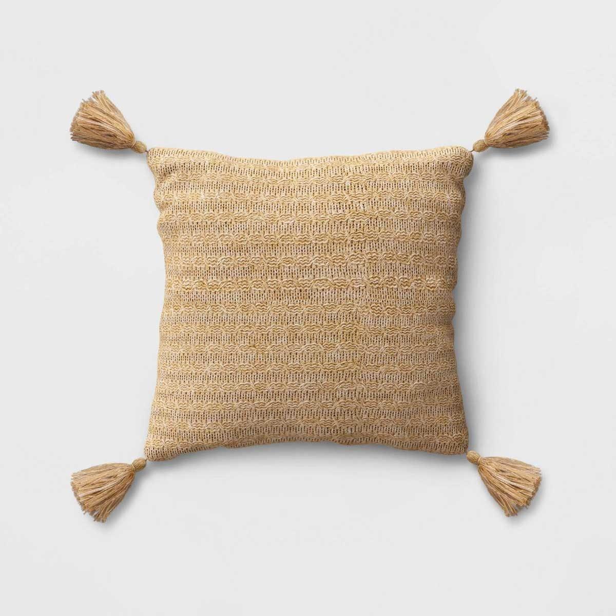 Neutral patio pillow