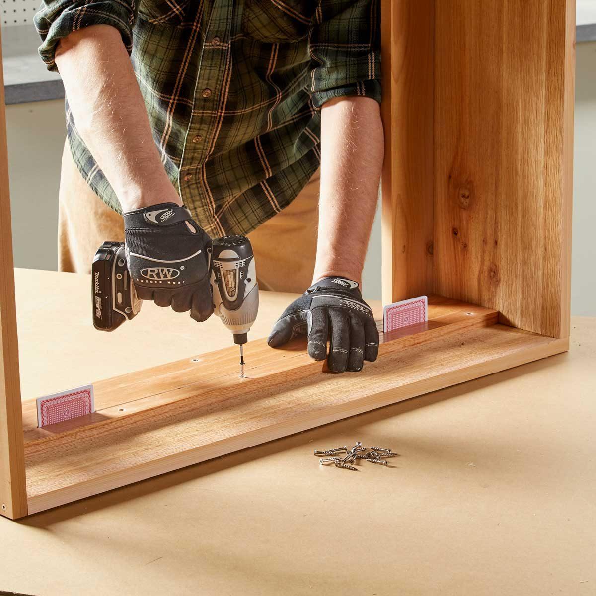Install the drawer slides