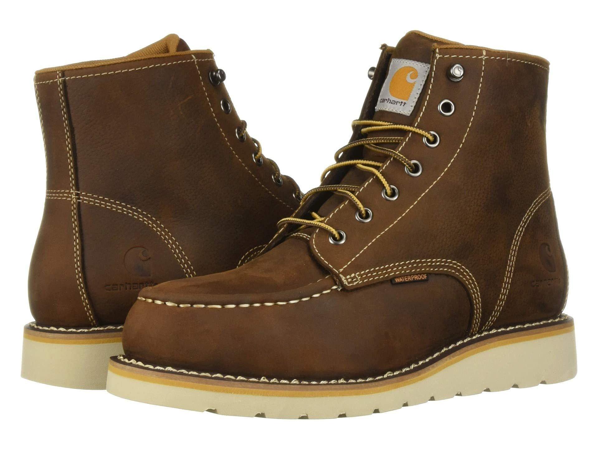 "Carhartt 6"" Steel Toe Waterproof Wedge Boot work boot"