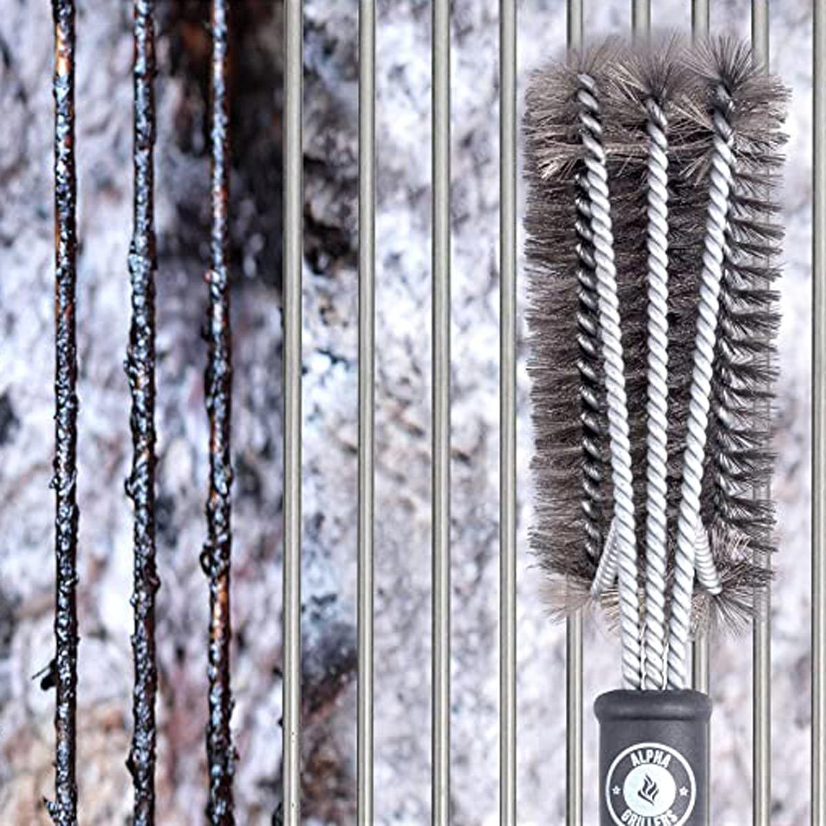 "Alpha Grillers 18"" Grill Brush"