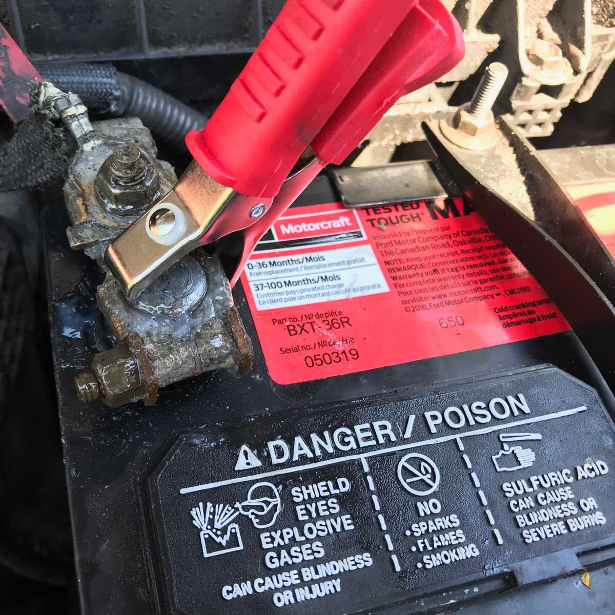 Connect the Battery Tester