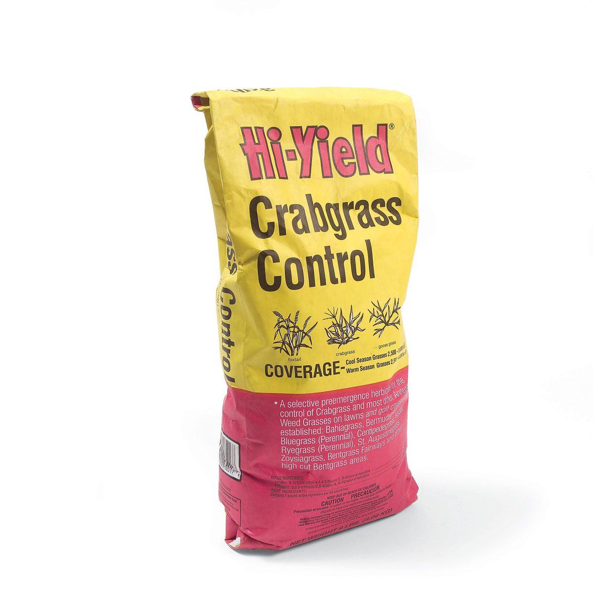 Crab grass preventer