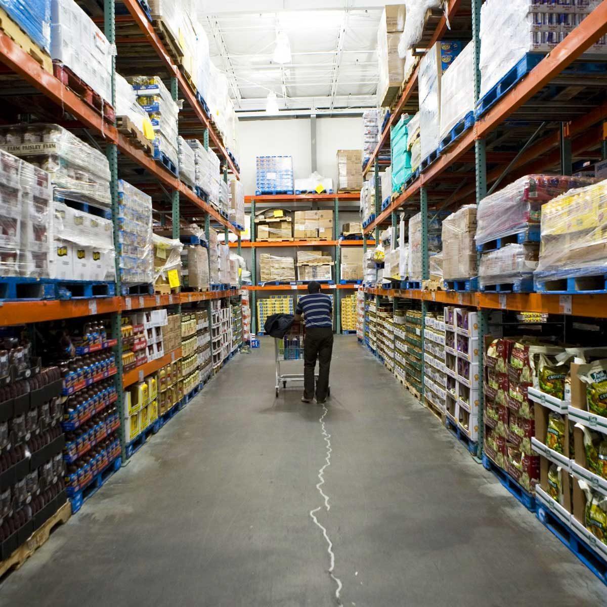 Man Shopping at Costco