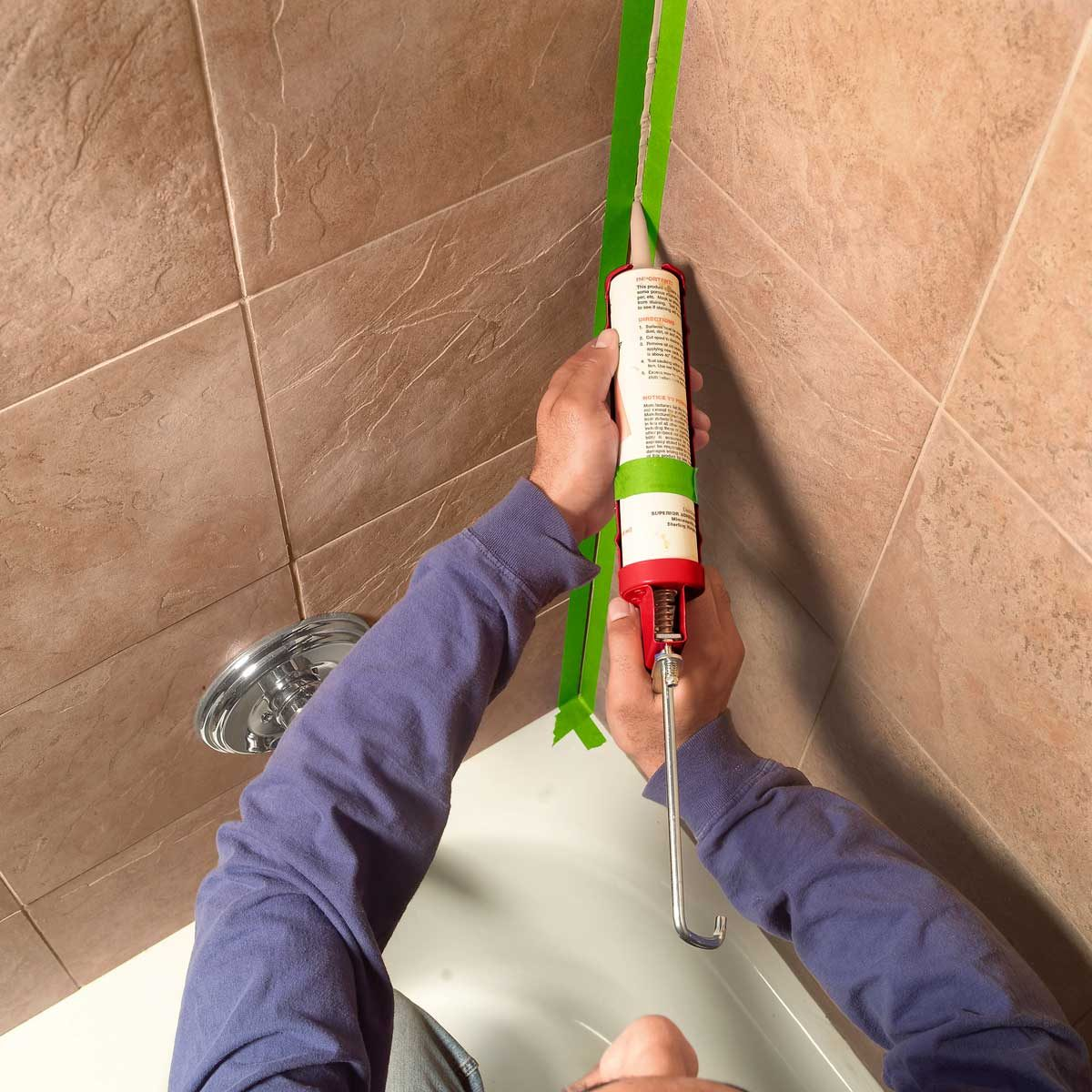 How To Caulk A Shower Or Bathtub Diy Family Handyman