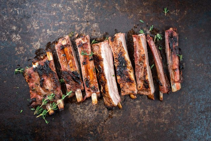 meat charred
