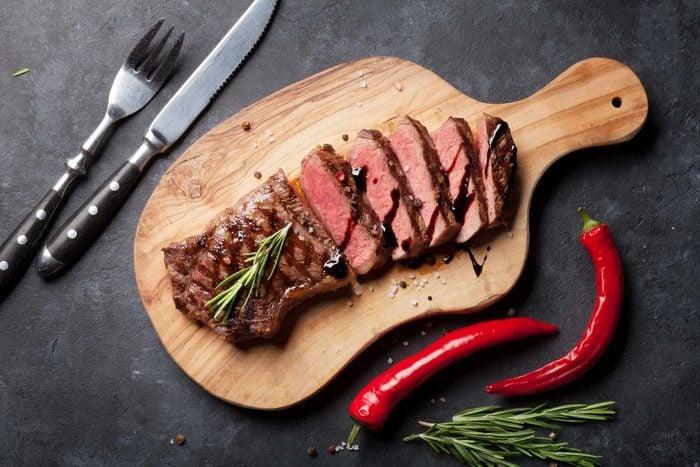 meat knife fork