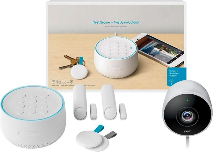 Google - Nest Secure Alarm System with Nest Cam Outdoor
