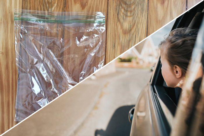 car sick plastic bag uses life hacks reusable