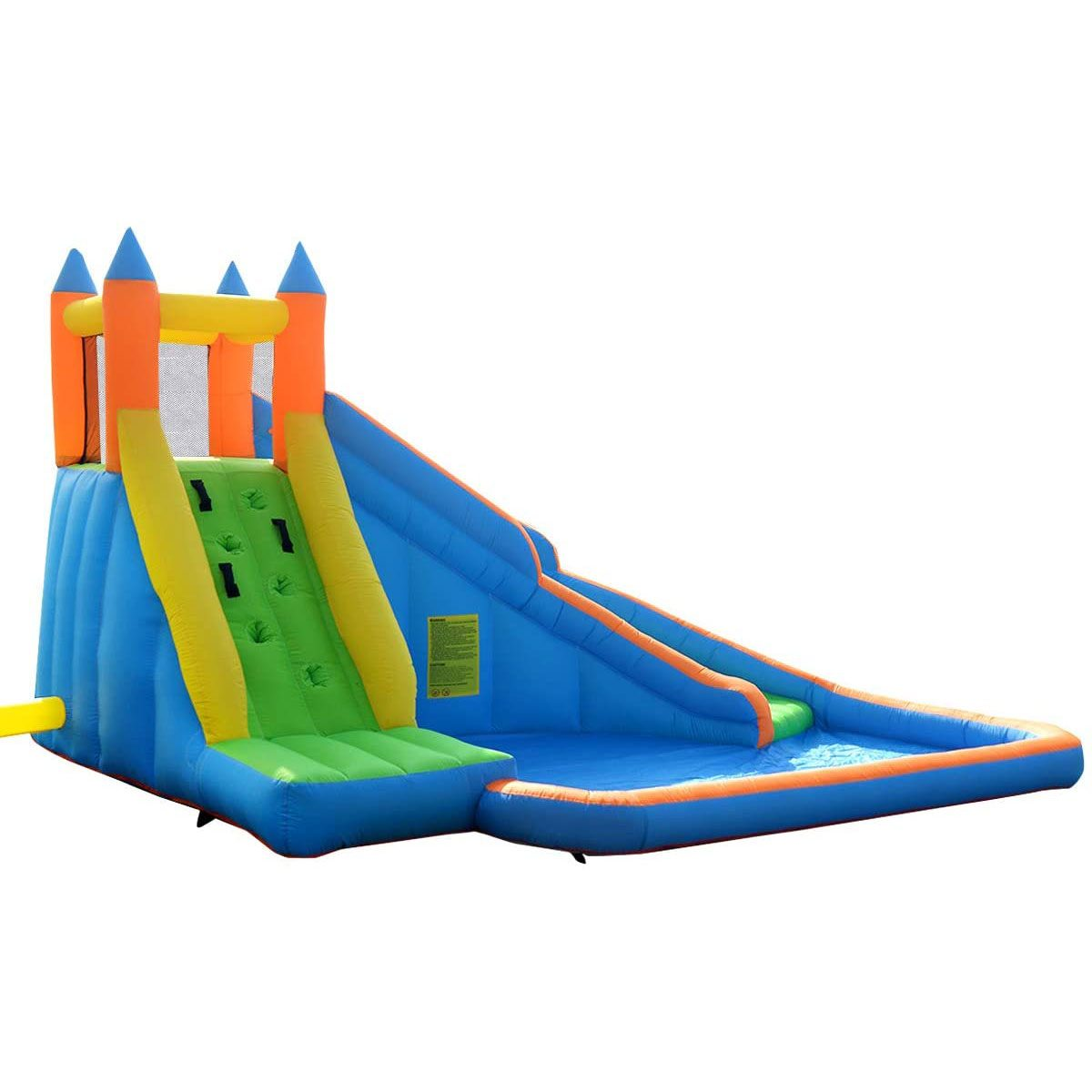 Kiddie pool with castle bouncy house