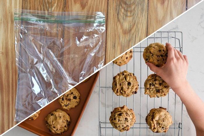 cookies hands kids plastic bag uses life hacks reusable