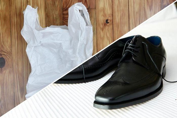 shoe form plastic bag uses