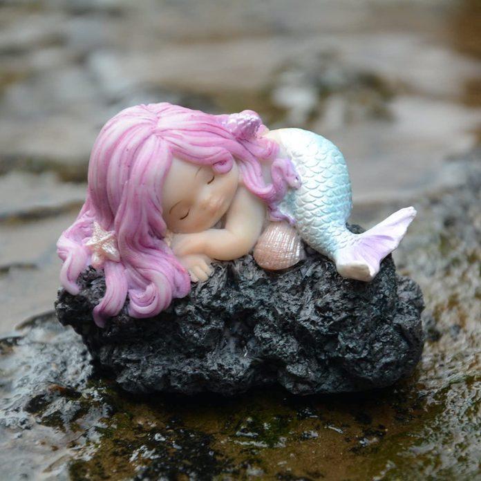 fairy garden mermaid statue