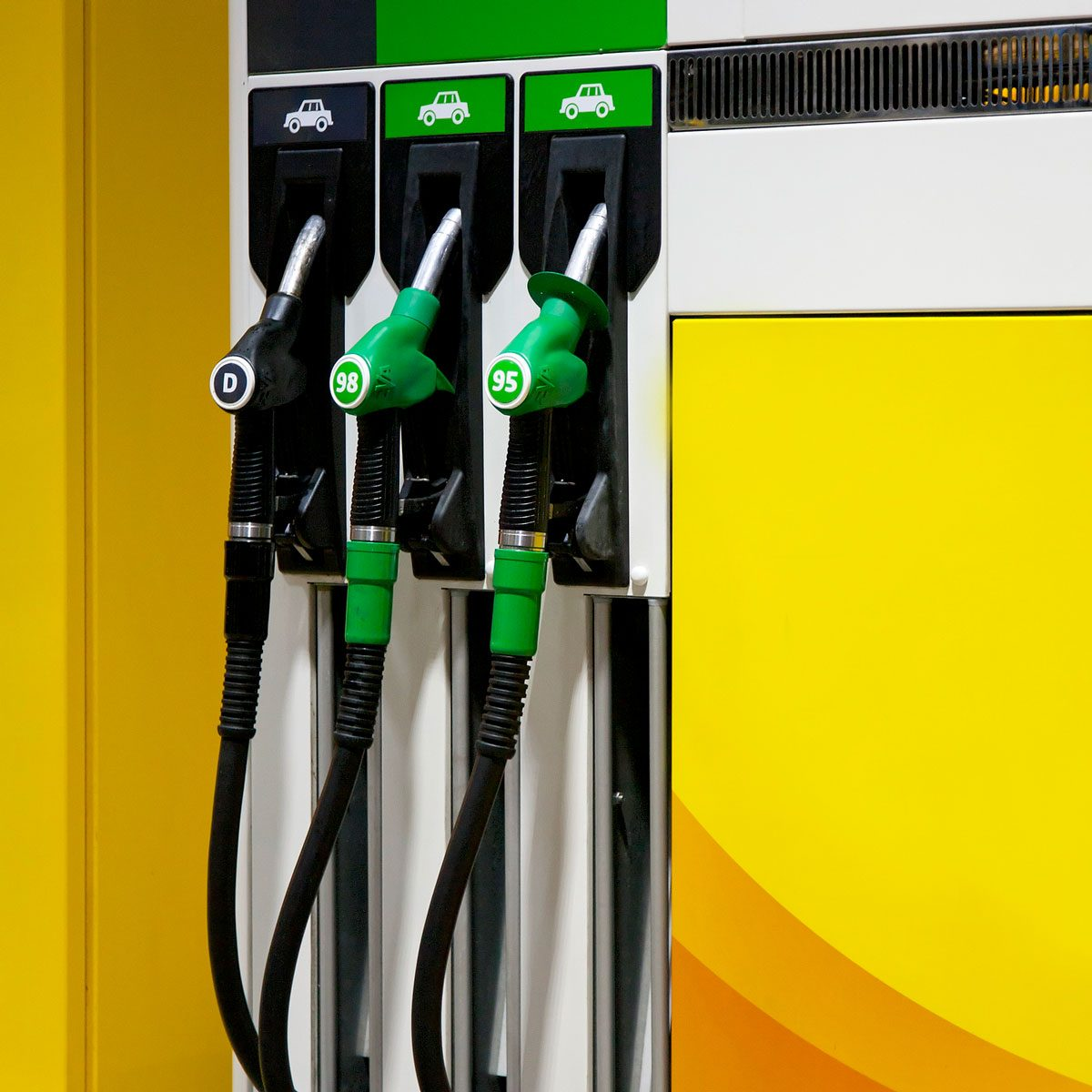 Gas pump with diesel