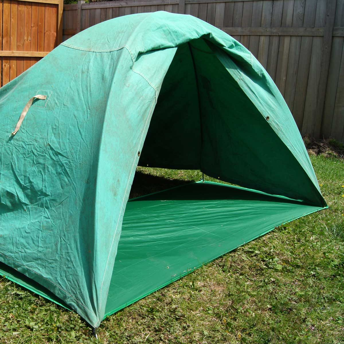 Completed tent pole fort