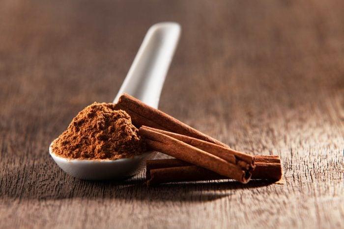 Cinnamons And Powder On Table