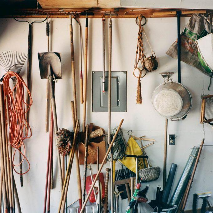 Garden Tools in Garage
