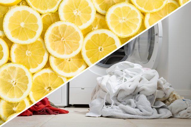 bleach laundry lemon cleaner
