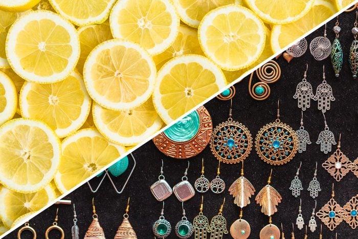 sanitize earrings lemon cleaning uses