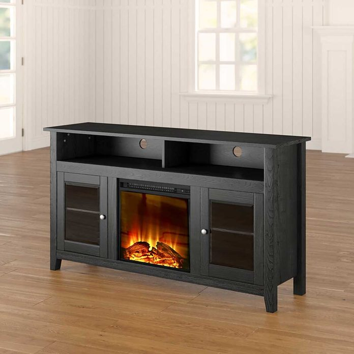 Fireplace console table
