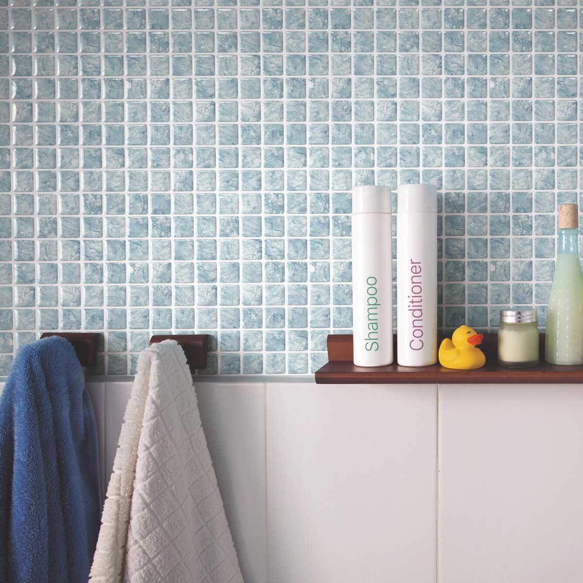 Pastel blue tile