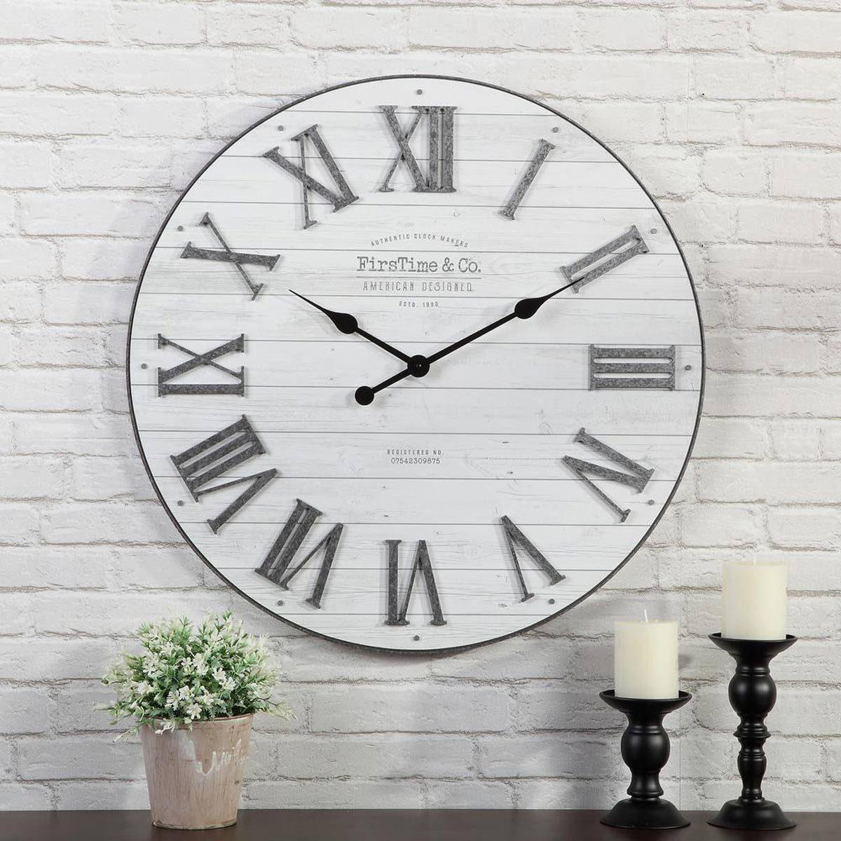 farmhouse shiplap wall clock