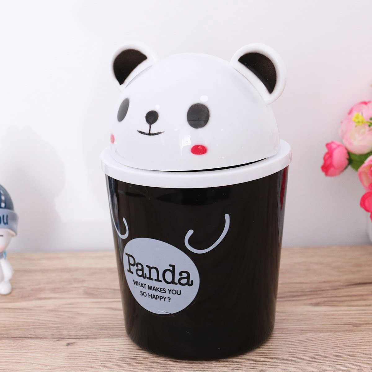 Panda shaped trash can