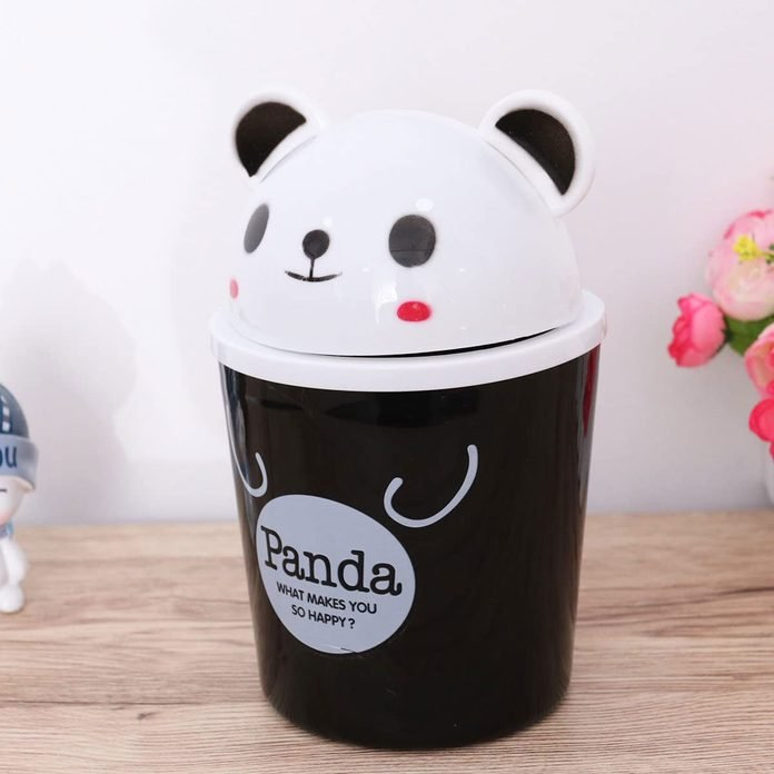 Panda shaped trash can