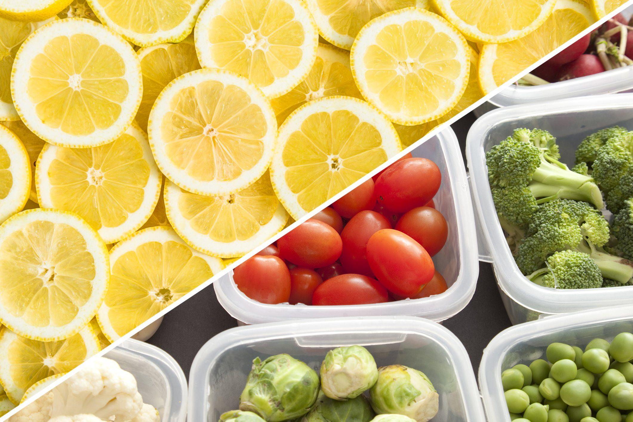 tupper ware food storage clean lemon