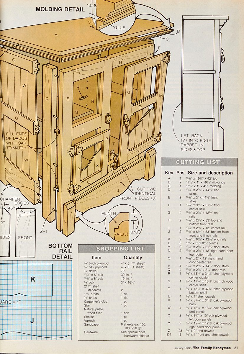 vintage ice chest project drawings
