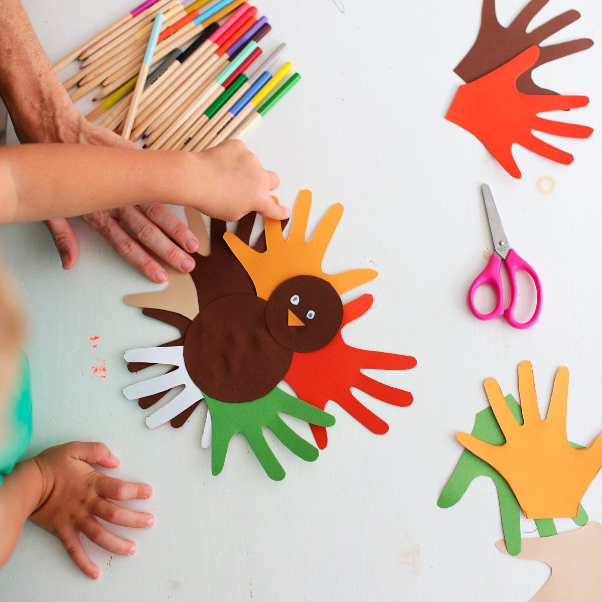 kids Thanksgiving turkey crafts
