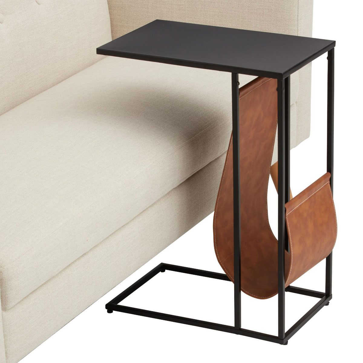 Laptop table with pouch