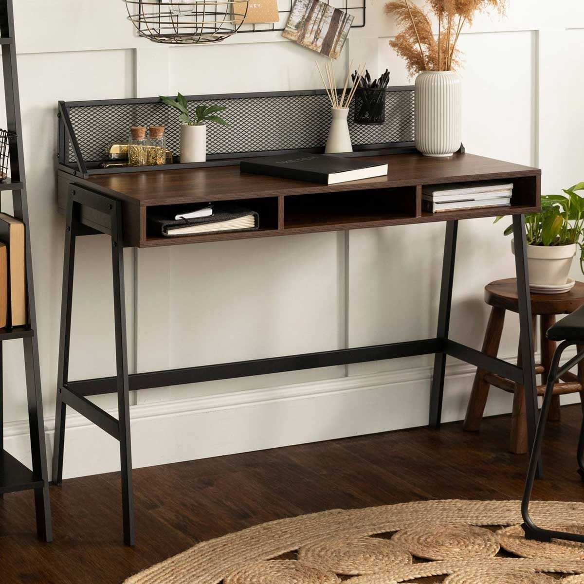 Desk with back