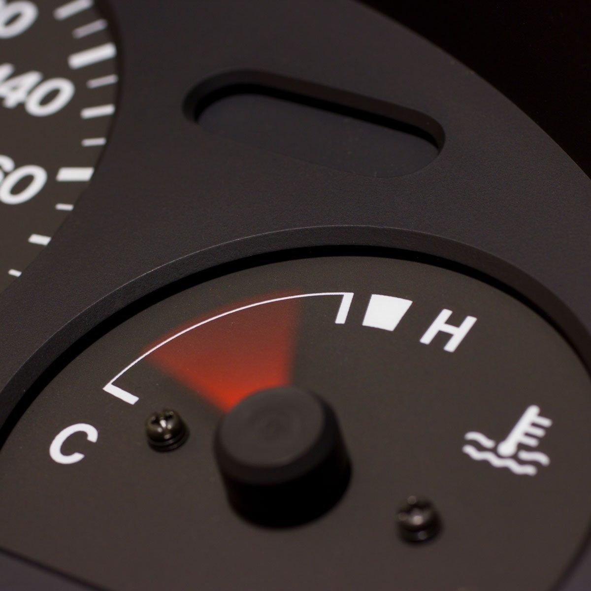 Engine temperature gauge