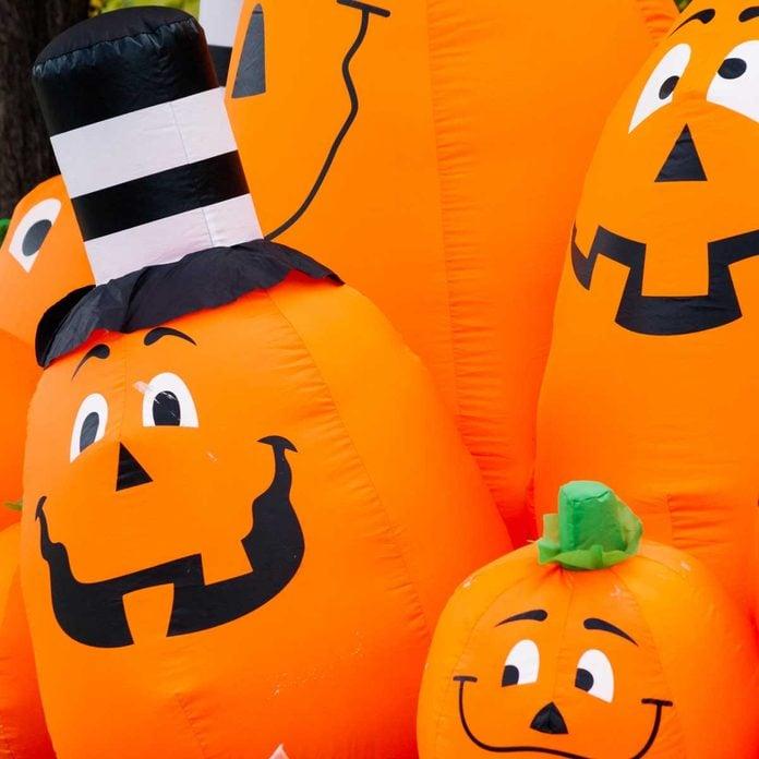 Inflatable pumpkin decorations