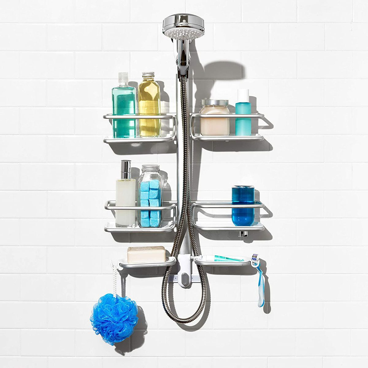 Shower head hanging basket