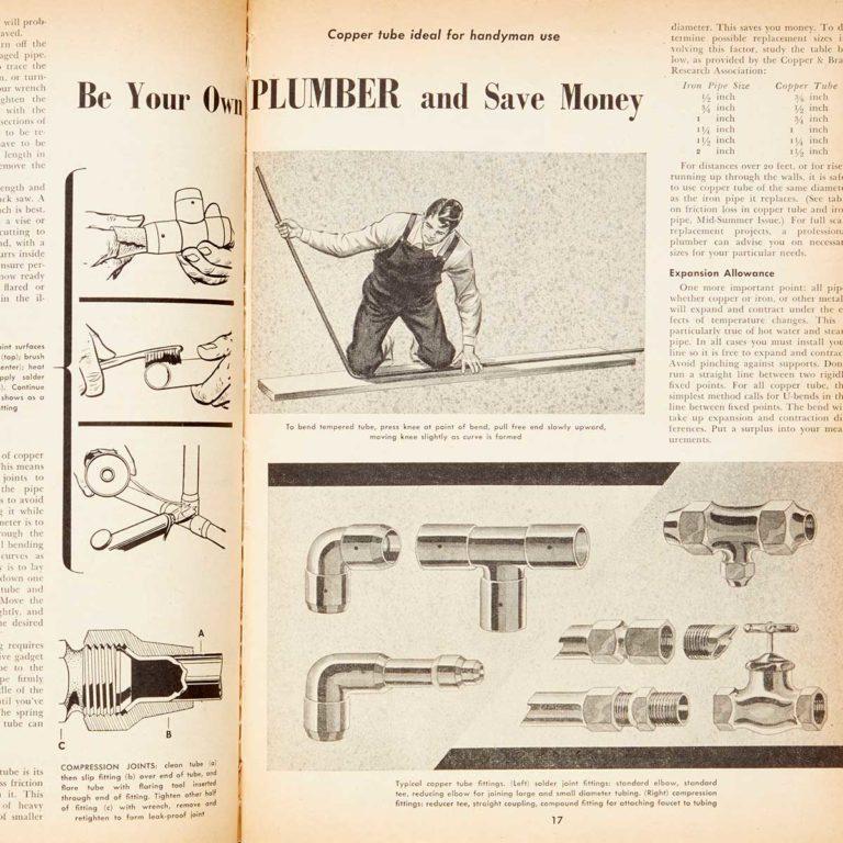 Vintage plumbing diagrams