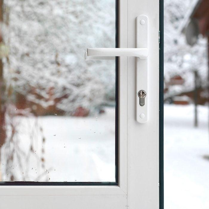 Glass storm door