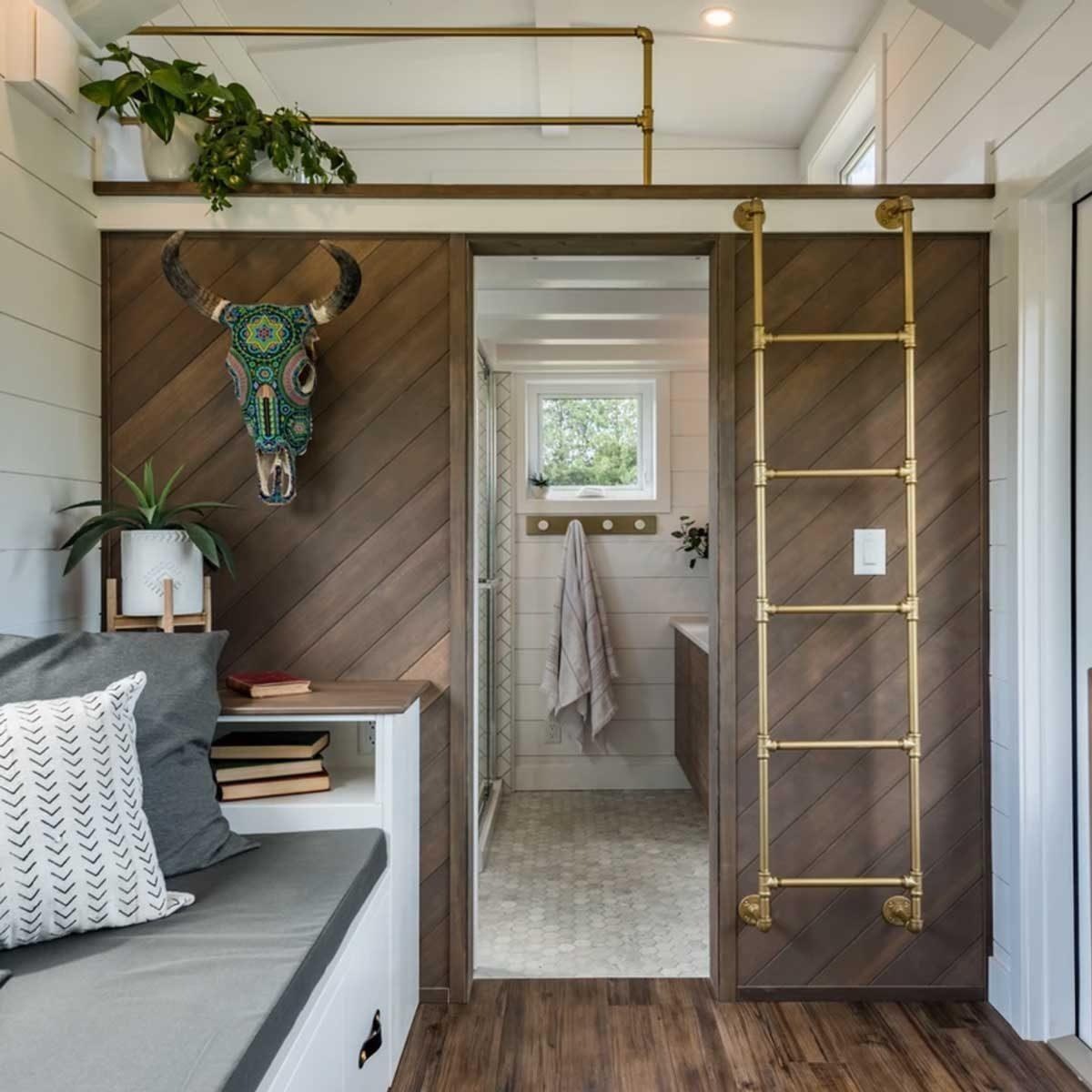 Tiny home wood wall