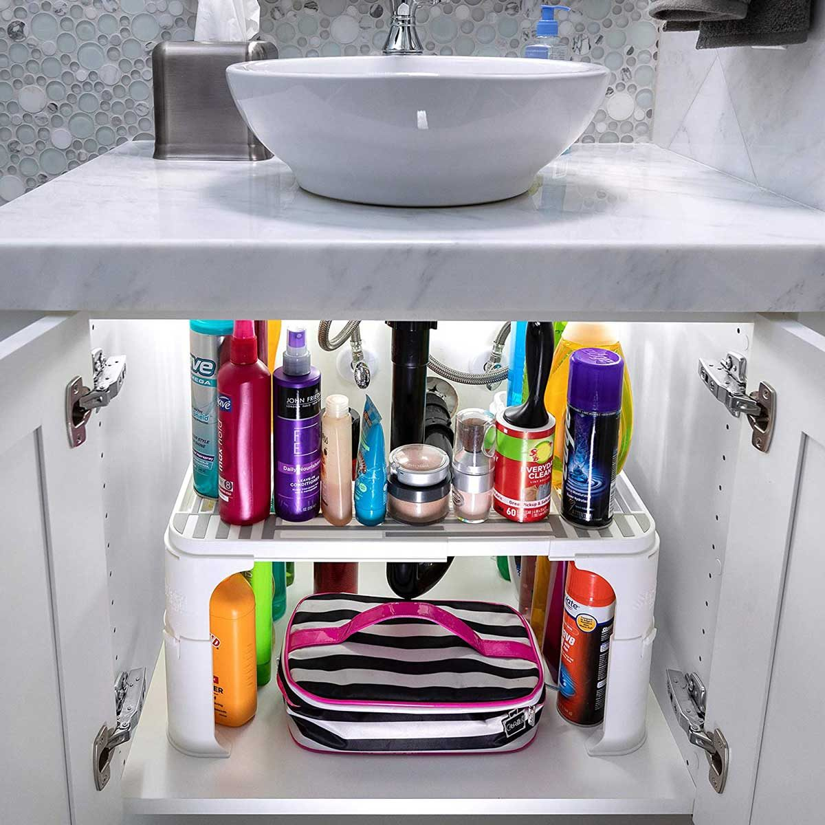 Under sink shelf